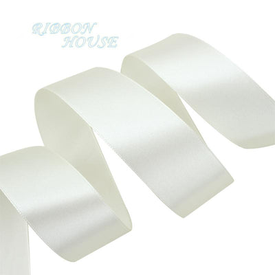 - (25 yards/roll) Ivory Single Face Satin Ribbon Wholesale Gift Wrapping Christmas ribbons -   jetcube