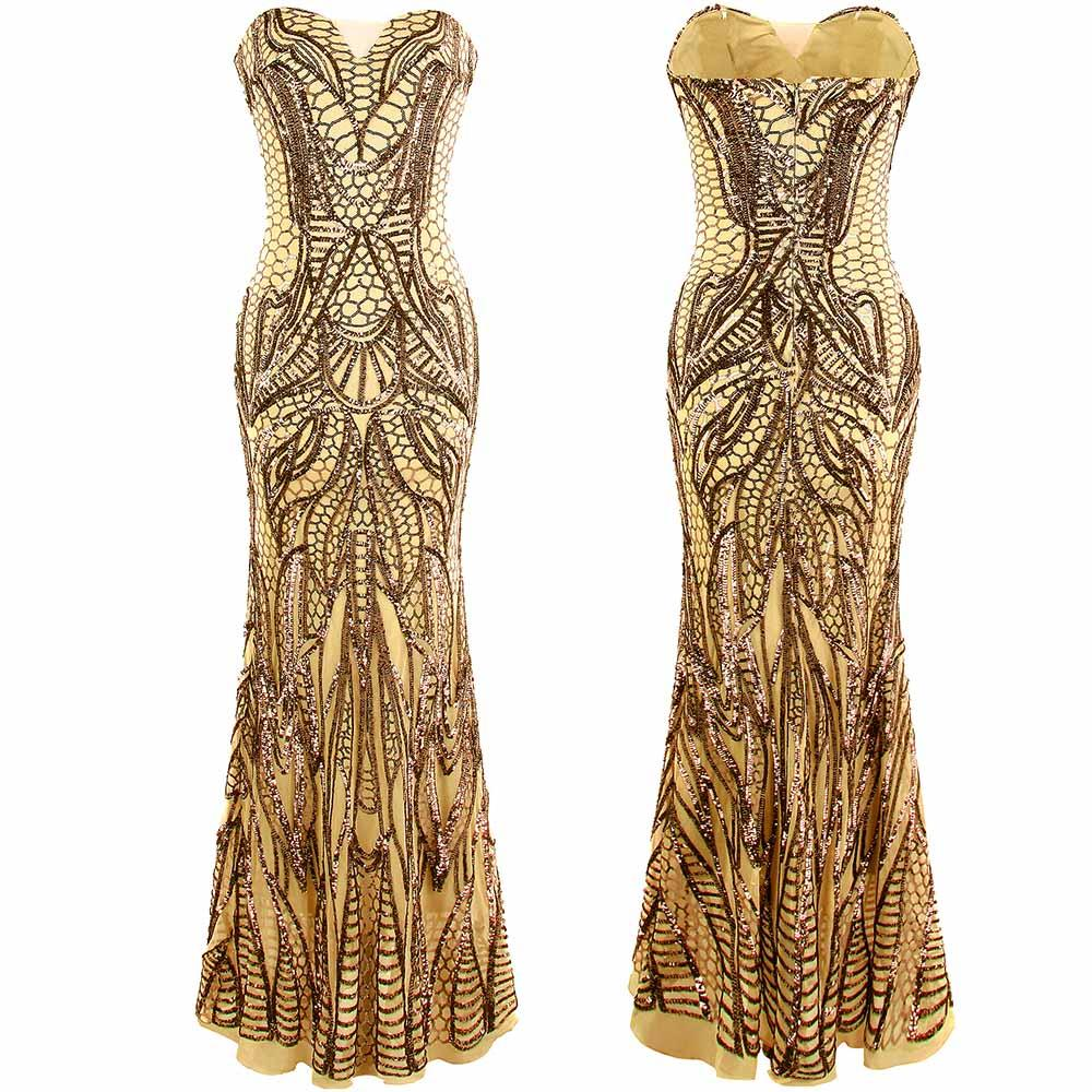 Angel-fashions vestido de festa Vintage 1920S Flapper Sequined ...
