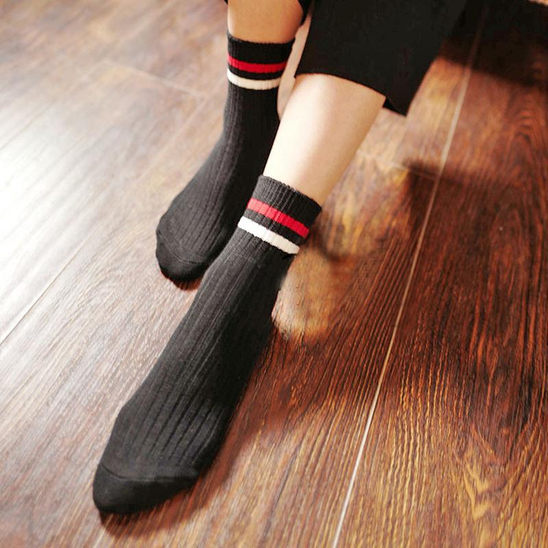 1 Pair Women Men Striped Socks Autumn Winter Cotton Warm Soft Comfort Socks Male Female Casual Sock Unisex Cozy Socks 2017