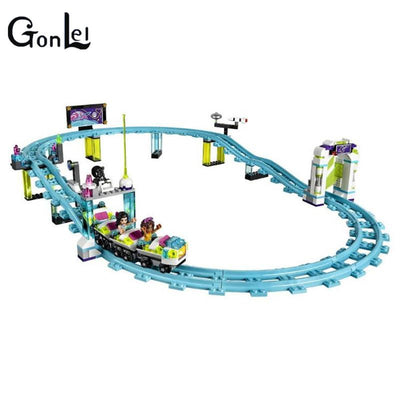 - (GonLeI) 10563 Friends Amusement Park Roller Coaster Building Blocks Classic For Girl Kids Model Toy Compatible with kid gift -   jetcube