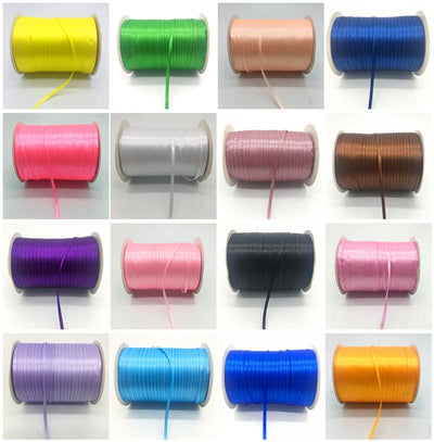 "- (20Yards/lot)1/8"" 3mm Silk Satin Ribbon Polyester Ribbon Wedding Christmas Party Decoration DIY Gift Packing -   jetcube"
