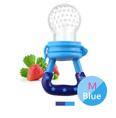 - 1 PIECE Baby Teethers Natural Silicone Gloves Teether Chewable Nursing Beads Child Give Up Sucking Fingers - Blue M  jetcube