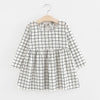 - 2-6y Autumn Girls Dress Long Sleeve Black Plaid Children Dress Cotton Dress Clothes for Girls Fashion Kids Clothing -   jetcube