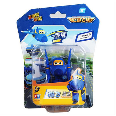 - (Lis)8 styles Super Wings Mini Planes Deformation Airplane Robot Action Changeable Toys action toy Super Wings - blue  jetcube