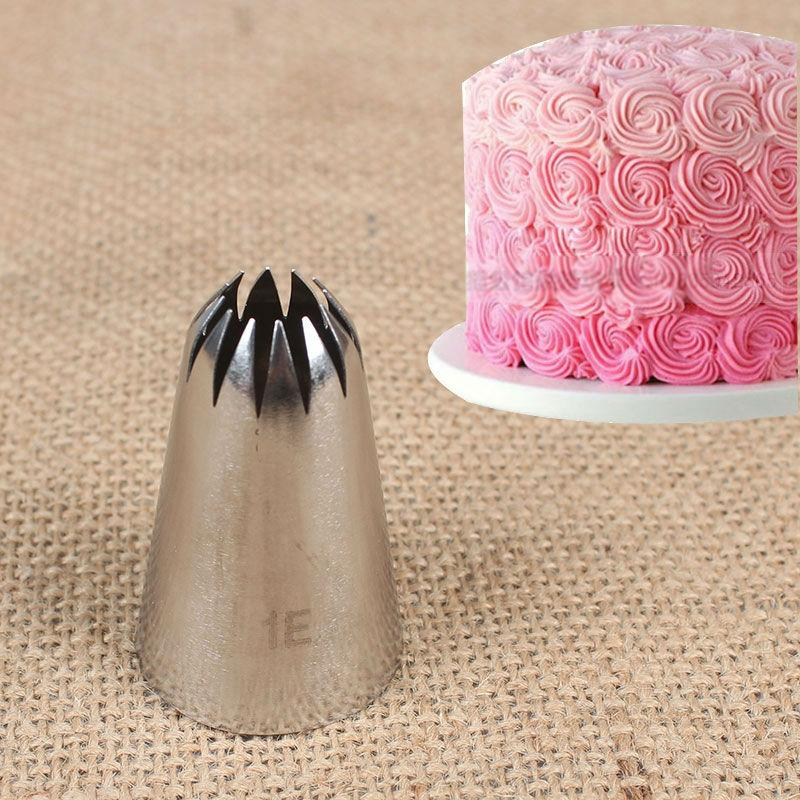 #1E Large Metal Cream Tips 1 pc Stainless Steel Piping Icing Nozzle Pastry Tool Cake Cream Decoration - Jetcube