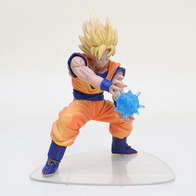 - 12cm - 17cm Dragon Ball Z Dramatic Showcase Super Saiyan Son Goku Son Gohan Cell PVC Action Figure Toy - Transparent base bag  jetcube