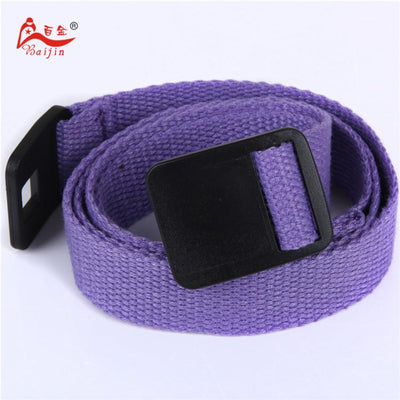 - 2.5cm webbing Waist Belt Candy Color Mens Womens Unisex Plain Webbing Canvas plastic Buckle Belt Personal Tailor - Purple / 100cm  jetcube