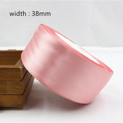 - 041, free shipping Wholesale 25 Yards Silk Satin Ribbon , Wedding decorative ribbons, gift wrap, DIY handmade materials - 38mm  jetcube