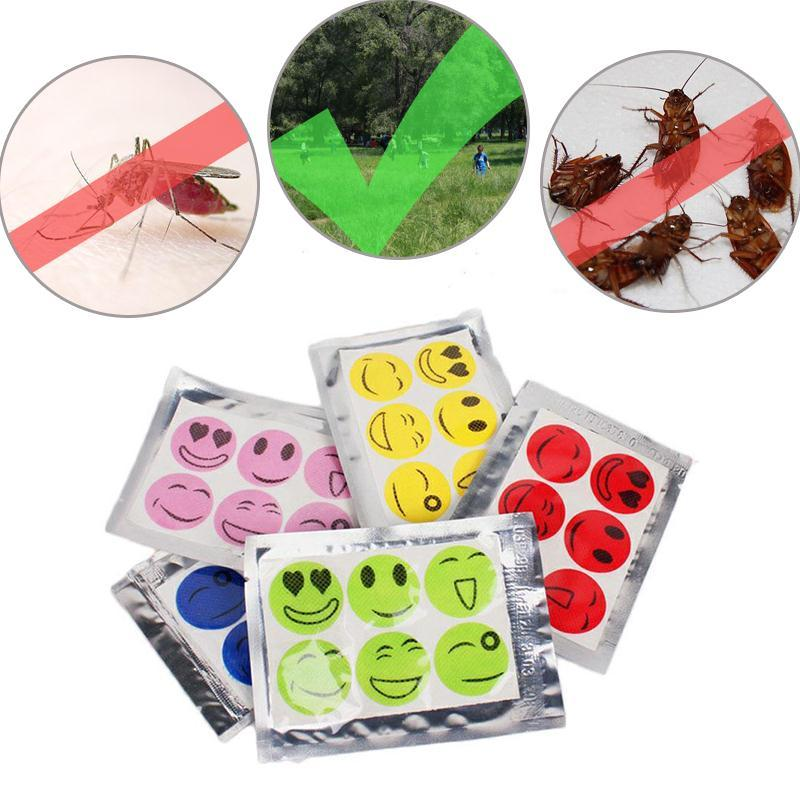 10 Pack Smiley Face Mosquito Repellent Patch Anti Mosquito Sticker Repeller Baby Family Mosquito Killer Trap Insect Pest Control  UpCube- upcube