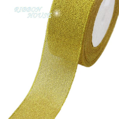 - (25yards/roll) 40mm Metallic Glitter Ribbon Colorful gift package ribbons wholesale -   jetcube