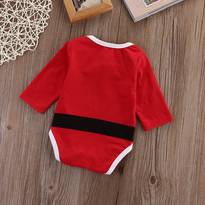 - 0-18M Cute Santa Claus Newborn Clothing Baby Rompers Bib Cotton Baby Boy Girl Clothes Set Jumpsuit Outfit Pajama Sets -   jetcube