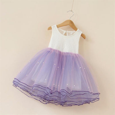 - 2-7Years Summer vestidos infantis Baby Dresses For Girl Party Dress Toddlers Tulle Princess Tutu Baptism Dresses Christmas - purple / 2T  jetcube