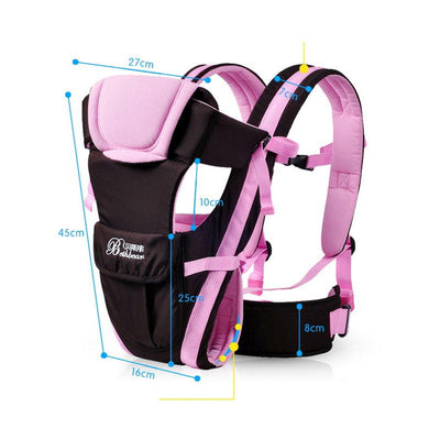 - 0-24M Breathable Multifunctional Front Facing Baby Carrier Adjustable Newborn Sling Portable Backpack Pouch kid carriage wrap -   jetcube