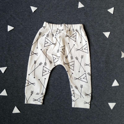 - 0-2T Spring Autumn Baby boy and girl pants Cotton Stripes & Grids &Geometry Printing girl leggings Baby boy trousers Harem pants - Khaki / 12M  jetcube