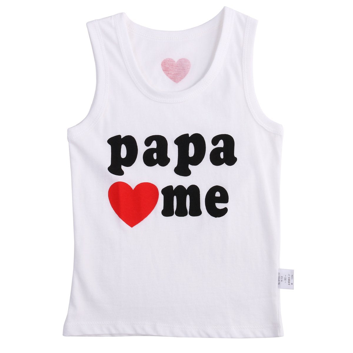 - 0-4Y Summer Newborn Toddler Baby Kids Boys Girls Clothes Top Bebes Love Sleeveless T shirt Casual Tops Blouse - Love Papa / 12M  jetcube
