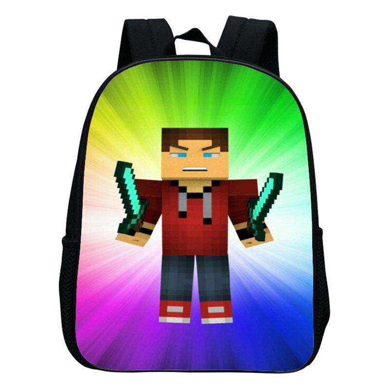 0a6bb75b0057 Kindergarten Children School Bag Minecraft Cartoon Backpack Printing School  Bags For Boys Girls Small Backpacks Mochila
