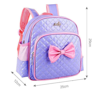 - 2-7 Years Girls Kindergarten Children Schoolbag Princess Pink Cartoon Backpack Baby Girls School Bags Kids Satchel Baby Backpack - Purple  jetcube