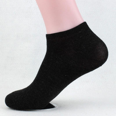 - 10 Pairs Womens Low Cut Ankle Socks Summer Short Socks Female Solid Casual Invisible Sox Chaussette For Ladies And Men - Black / One Size  jetcube