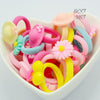 - 10 Pcs Lovely Girls Kids Cartoon Character Elastic Hairband for Children Hair Rope for Baby Candy Color Headband -   jetcube
