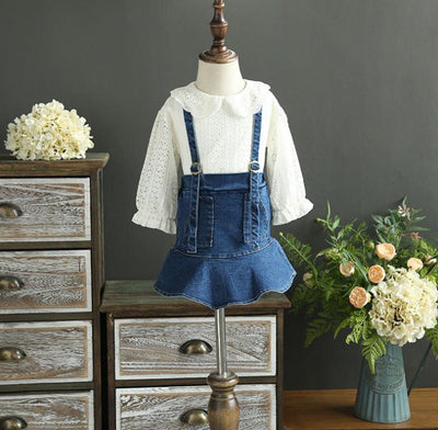 - 2-7 years Wholesale 2017 Autumn Denim Girls Skirts Baby Clothes (no blouses) - Default Title  jetcube