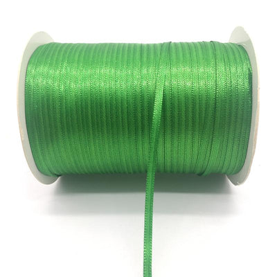 "- (20Yards/lot)1/8"" 3mm Silk Satin Ribbon Polyester Ribbon Wedding Christmas Party Decoration DIY Gift Packing - Green  jetcube"