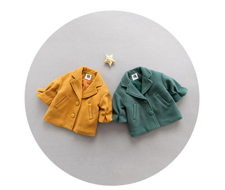 - 0-3 years Wholesale New 2017 Winter Cotton Good Quality Solid Baby Coat -   jetcube