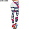 DAYSOFT Fashion Leggings Women Letter Print Fitness Legging Elastic Leggins Legins Slim Polyester Sporting Trouser Workout Pants
