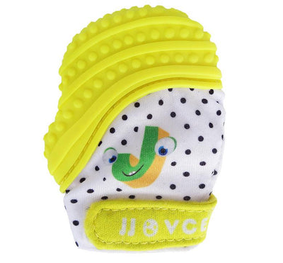 - 1 PIECE Baby Teethers Natural Silicone Gloves Teether Chewable Nursing Beads Child Give Up Sucking Fingers - yellow  jetcube