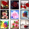 - % 5D Diamond embroidery rose flower diamond cross stitch Needlework crystal sets unfinished decorative diy diamond painting -   jetcube