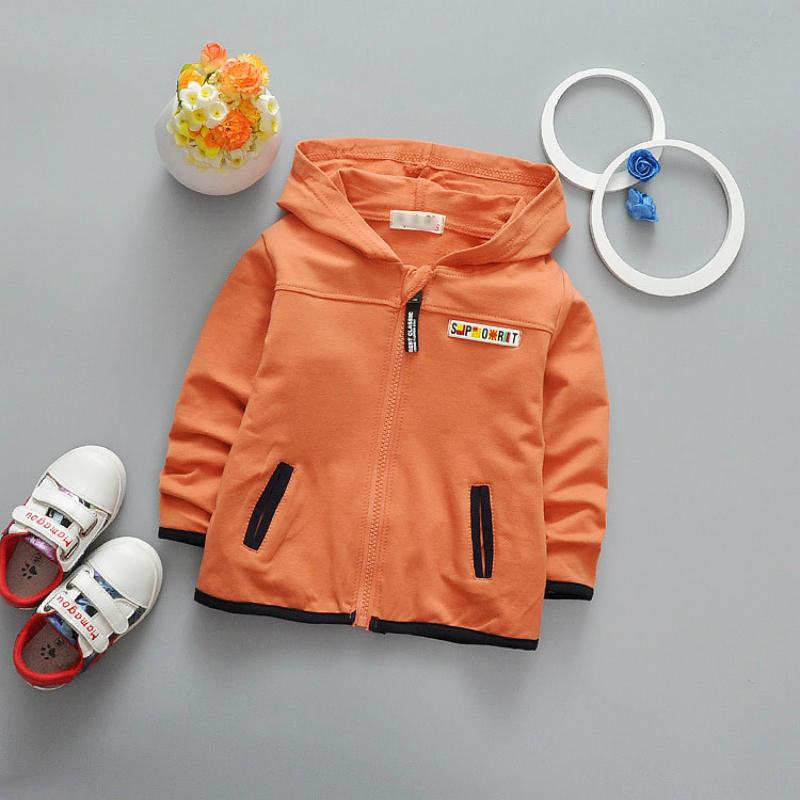 - 0-3 Years Baby Spring Jacket Boys Hoodies Zipper Cardigan Girls Long Sleeve Coats Kids Autumn Outerwear Free Shipping -   jetcube
