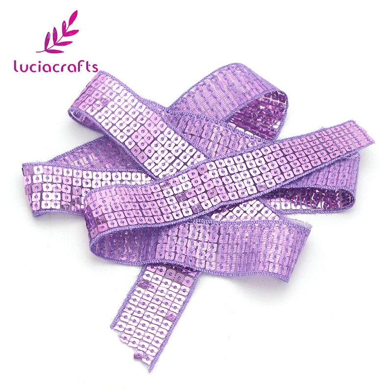 2yards Sequined Trim Lace Ribbon DIY Handcraft Sewing Wedding Party Accessories