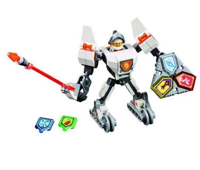 - (YNYNOO)10585 10586 10587 10588 10589 Nexus Knights Building Blocks set Macy Aaron AXL Lance Clay Battle Suit Kids bricks toys - White  jetcube
