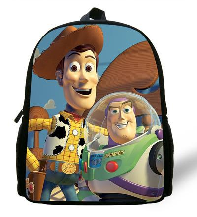- 12-inch Childlike Toy Story School Bag Cute Buzz Lightyear Backpacks Toy Story Book Bags For Boys and Girl Aged 1-6. - Green  jetcube