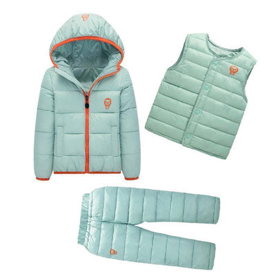 - 2-7 Years Baby Boys Girls Coats Brand 2017 Winter Boys Down Jackets Casual Snow Wear Girls Clothing Sets 3Pcs Outerwear & Coats - 4 / 24M  jetcube