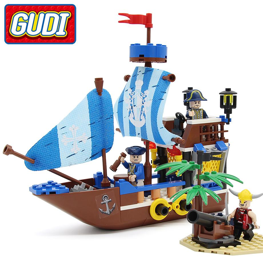 1184pcs Black Pirate Ship Legoed Building Blocks Educational Toys Model Set