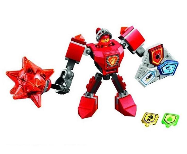 - (YNYNOO)10585 10586 10587 10588 10589 Nexus Knights Building Blocks set Macy Aaron AXL Lance Clay Battle Suit Kids bricks toys - Red  jetcube