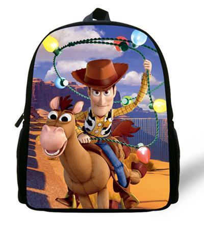 - 12-inch Childlike Toy Story School Bag Cute Buzz Lightyear Backpacks Toy Story Book Bags For Boys and Girl Aged 1-6. - Orange  jetcube