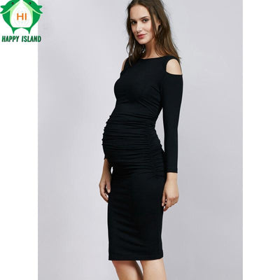 christmas maternity clothes elastic maternity dress nice evening party dress for pregnant women elegant summer lady - Maternity Christmas Dress