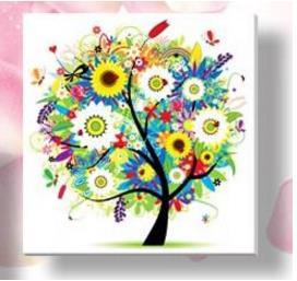 - % Flower arranging 5D diamond Painting flowers tree Cross Stitch diamond embroidery mosaic diamonds wall stickers home decor - Multi / 30*30cm  jetcube