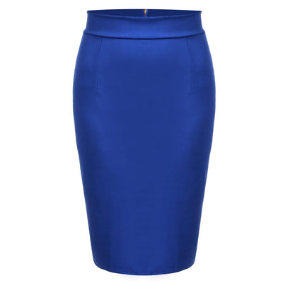 Autumn Skirt 2017 Skirts Women Saia OL Office Skirt Knee Length High Waist Straight Back Zipper Solid Pencil Saias Lolita Faldas