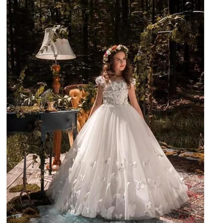 New Kids Pageant Evening Gowns 2018 Lace Ball Gown Flower Girl ...