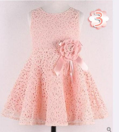 - 0-2 Years New Gift Summer Lace Vest Girls Dress Baby Girl Cotton Dress Chlidren Clothes Kids Party Clothing For Girls - Light pink / 12M  jetcube