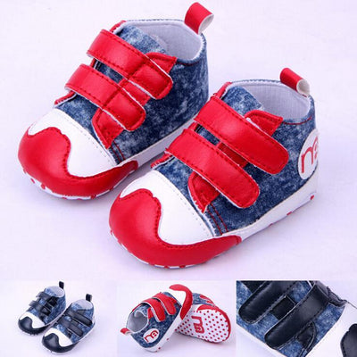 - 0-2 year old baby boy first walk shoes red and blue 11-13 cm boy children shoes bebe menino 0389 -   jetcube