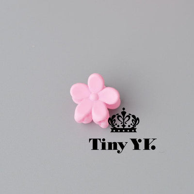 - 10 pcs New Fashion Baby Girls Small Hair Claw Cute Candy Color flower Hair Jaw Clip Children Hairpin Hair Accessories Wholesale - Pink  jetcube