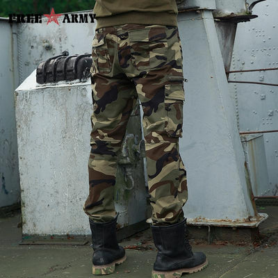 2017 Autumn Brand Mens Fashion Military Cargo Pants Multi-pockets Baggy Men Pants Casual Trousers Overalls Army Camouflage Pants  dailytechstudios- upcube