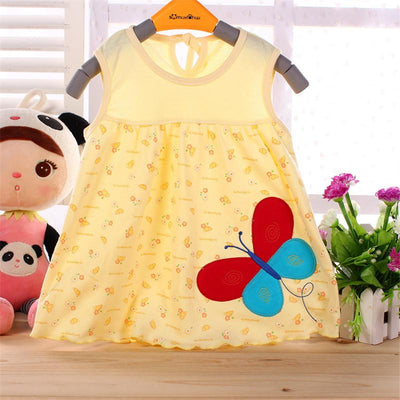 - 0-1-2T Cute & Nice printing Infant baby cotton dress toddler children girl's Various styles dresses summer clothes -   jetcube