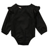 - 0-24M Ruffles Girls Romper Newborn Infant Baby Girlslong sleeve Romper Jumpsuit Sunsuit Outfits Clothes Yellow - Black / 10-12 months  jetcube