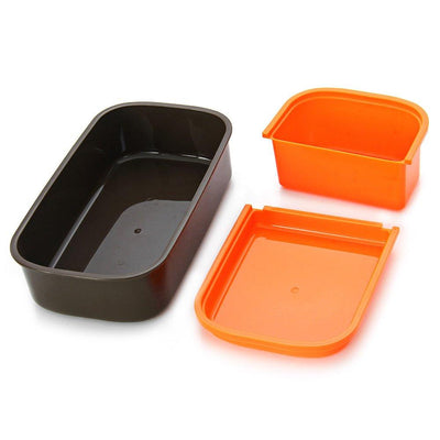 - 2016 Hot 12:00 It's Lunch Time Japan style Double Tier Bento Fashion Large Meal Box Tableware Microwave Dinnerware Set -   jetcube