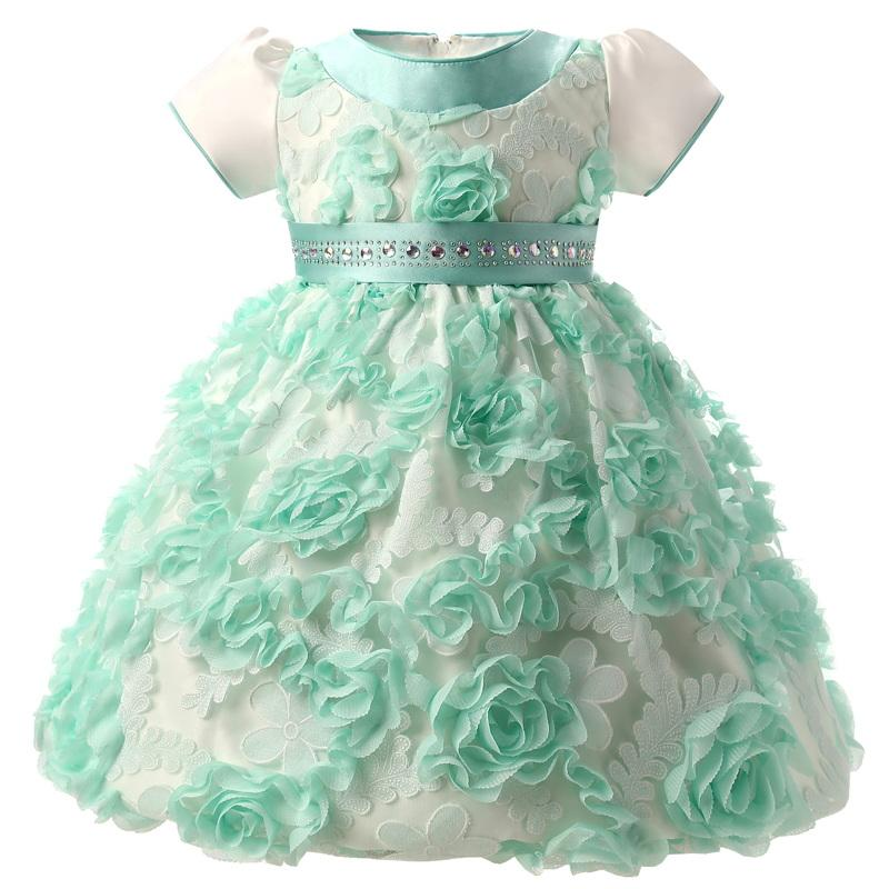 Flowers Baby Frock Designs Newborn Baby Girl Baptism Gown Tutu First ...