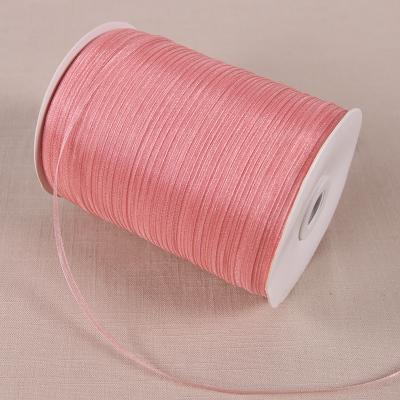 - (20 yards/lot) 1/8''(3mm) organza ribbons wholesale gift wedding Christmas decoration wrapping ribbons - 1041  jetcube